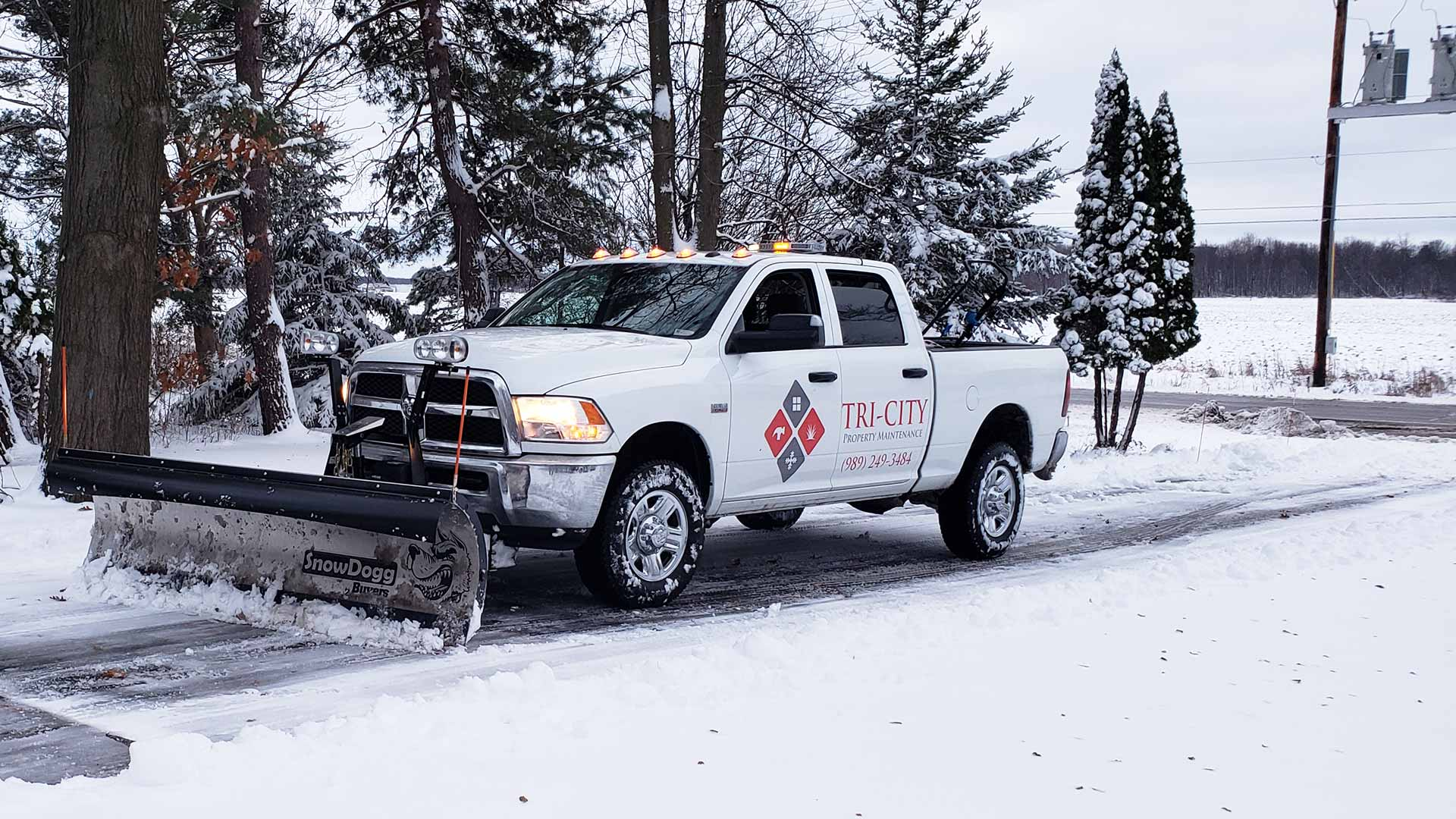 Our snow removal team starts services for commercial clients once the snow has reached 1.5 inches in depth.